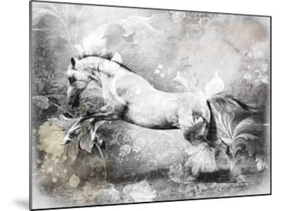 White Horse-GraphINC-Mounted Art Print