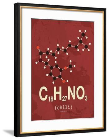 Molecule Chili-TypeLike-Framed Art Print