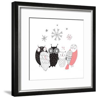 Owl IV-GraphINC-Framed Art Print