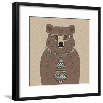 Bear-man-GraphINC-Framed Art Print
