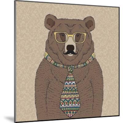 Bear-man-GraphINC-Mounted Art Print