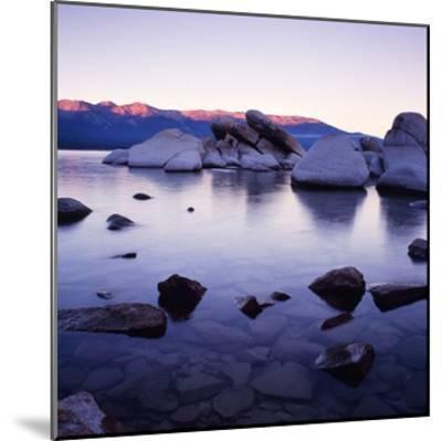 Purple Rocks-PhotoINC Studio-Mounted Art Print
