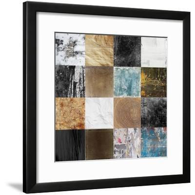 Tiles Decor Blue Notes 2-GraphINC-Framed Art Print