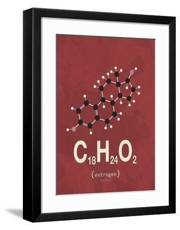 Molecule Estrogene-TypeLike-Framed Art Print