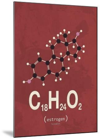 Molecule Estrogene-TypeLike-Mounted Art Print