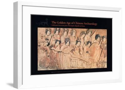Relief of Musicians, Later Liang Dynasty-Unknown-Framed Art Print