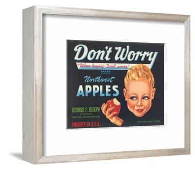 Northwest Apples Advertisement-Unknown-Framed Art Print