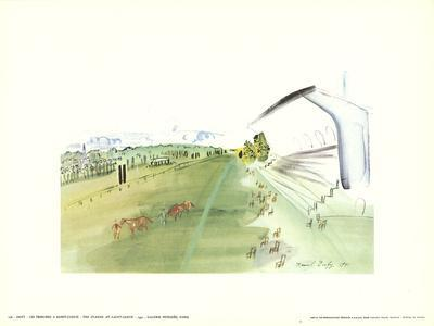 The Stands at Saint-Cloud-Raoul Dufy-Framed Art Print