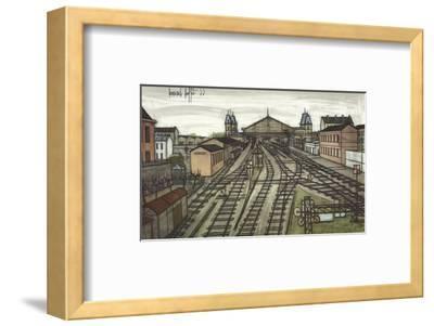 La Gare-Bernard Buffet-Framed Art Print