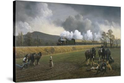 Great Western Near South Brent, 1913-Gerald Broom-Stretched Canvas Print