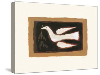 Nesting Bird-Breon O'Casey-Stretched Canvas Print