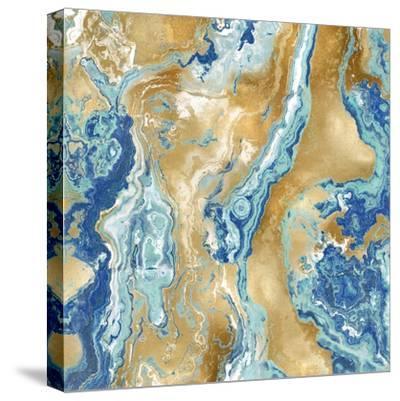 Onyx Aqua-Danielle Carson-Stretched Canvas Print