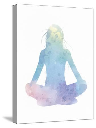 Sukhasana - Meditate-Sasha Blake-Stretched Canvas Print