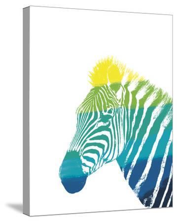 Spectral - Zebra--Stretched Canvas Print