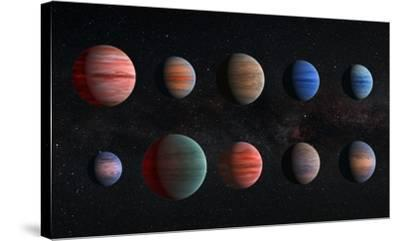 Artist Impression of Hot Jupiter Exoplanets - Unannotated--Stretched Canvas Print