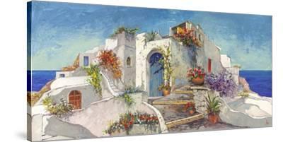 Casa nelle Cicladi-Luigi Florio-Stretched Canvas Print
