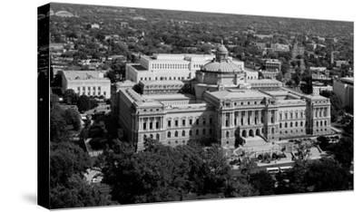 Thomas Jefferson Building from the U.S. Capitol dome, Washington, D.C. - B&W-Carol Highsmith-Stretched Canvas Print