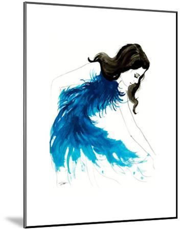 Blue Feathers-Jessica Durrant-Mounted Art Print