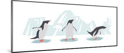 Minimalist Penguin Trio, Boys-Color Me Happy-Mounted Art Print