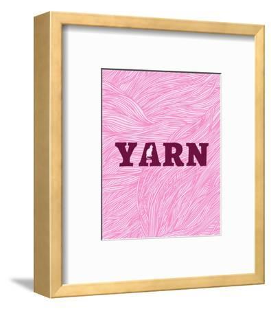 Cat's Yarn-Color Me Happy-Framed Art Print
