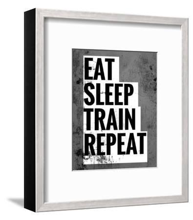 Eat Sleep Train Repeat-Color Me Happy-Framed Art Print