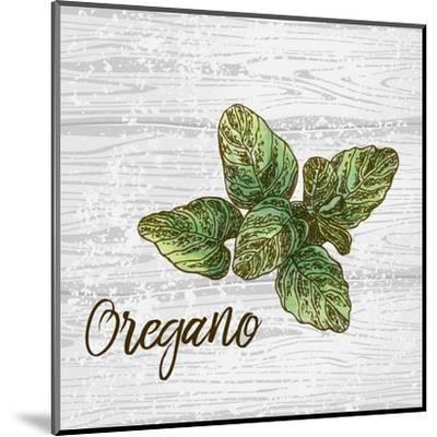 Oregano on Wood-Color Me Happy-Mounted Art Print