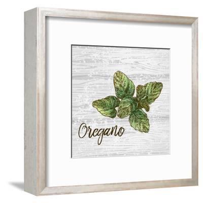 Oregano on Wood-Color Me Happy-Framed Art Print