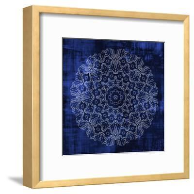 Indigo Mandala 3-Kimberly Allen-Framed Art Print