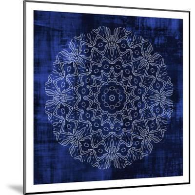 Indigo Mandala 3-Kimberly Allen-Mounted Art Print