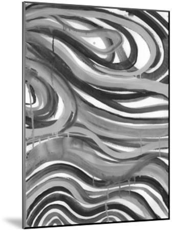 Charcoal Ripples 1-Smith Haynes-Mounted Art Print