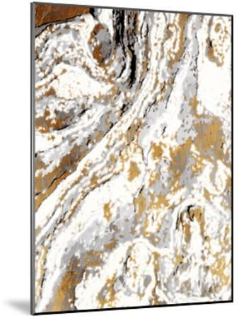 Gold Marble-Jace Grey-Mounted Art Print