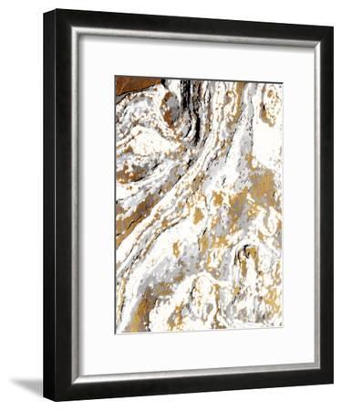 Gold Marble-Jace Grey-Framed Art Print