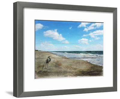 Tranquil Walk By The Ocean-Sheldon Lewis-Framed Art Print