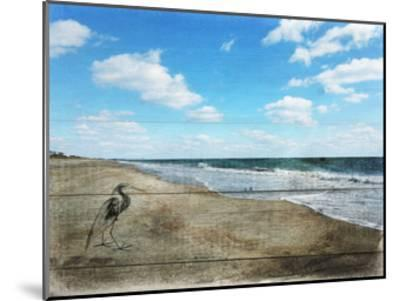 Tranquil Walk By The Ocean-Sheldon Lewis-Mounted Art Print