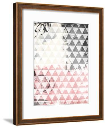 Rose Tri Abstract-Jace Grey-Framed Art Print