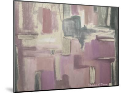Abstract Soft Pink-Victoria Brown-Mounted Art Print