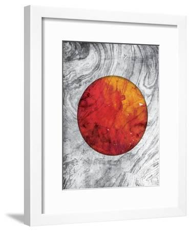 Marble Mars-Jace Grey-Framed Art Print