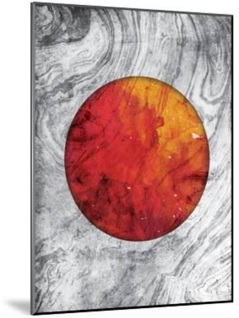 Marble Mars-Jace Grey-Mounted Art Print