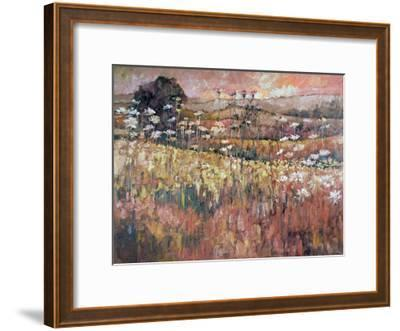 Sunrise Over The Wildflowers-Kruk Kruk-Framed Art Print