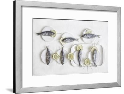 Still Life With Fish-Dimitar Lazarov-Framed Giclee Print