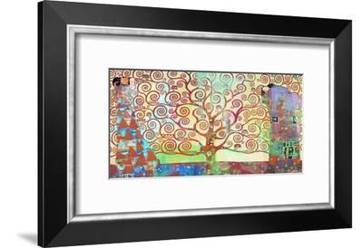 Klimt's Tree of Life 2.0-Eric Chestier-Framed Giclee Print