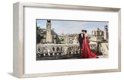 Lovers in Paris-Pierre Benson-Framed Giclee Print