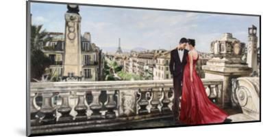Lovers in Paris-Pierre Benson-Mounted Giclee Print