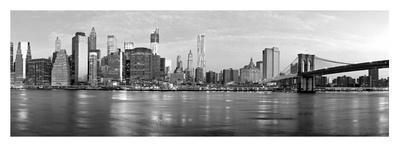 Manhattan and Brooklyn Bridge, NYC-Vadim Ratsenskiy-Framed Giclee Print