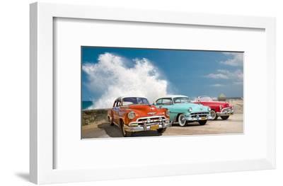 Cars in Avenida de Maceo, Havana, Cuba-Pangea Images-Framed Giclee Print