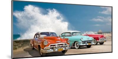Cars in Avenida de Maceo, Havana, Cuba-Pangea Images-Mounted Giclee Print