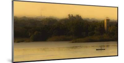 Fishing At Sunset-Lisandro Trarbach-Mounted Giclee Print