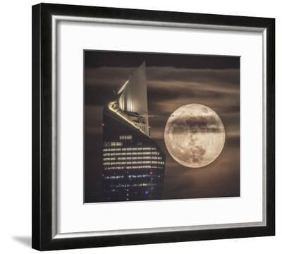 Handling The Supermoon-Faisal Alnomas-Framed Giclee Print