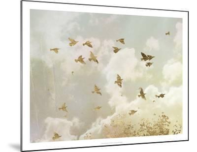 Golden Flight II-Jennifer Goldberger-Mounted Art Print