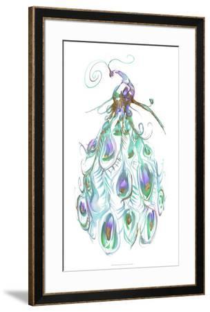 Gilded Peacock Plumes I-Jennifer Goldberger-Framed Art Print